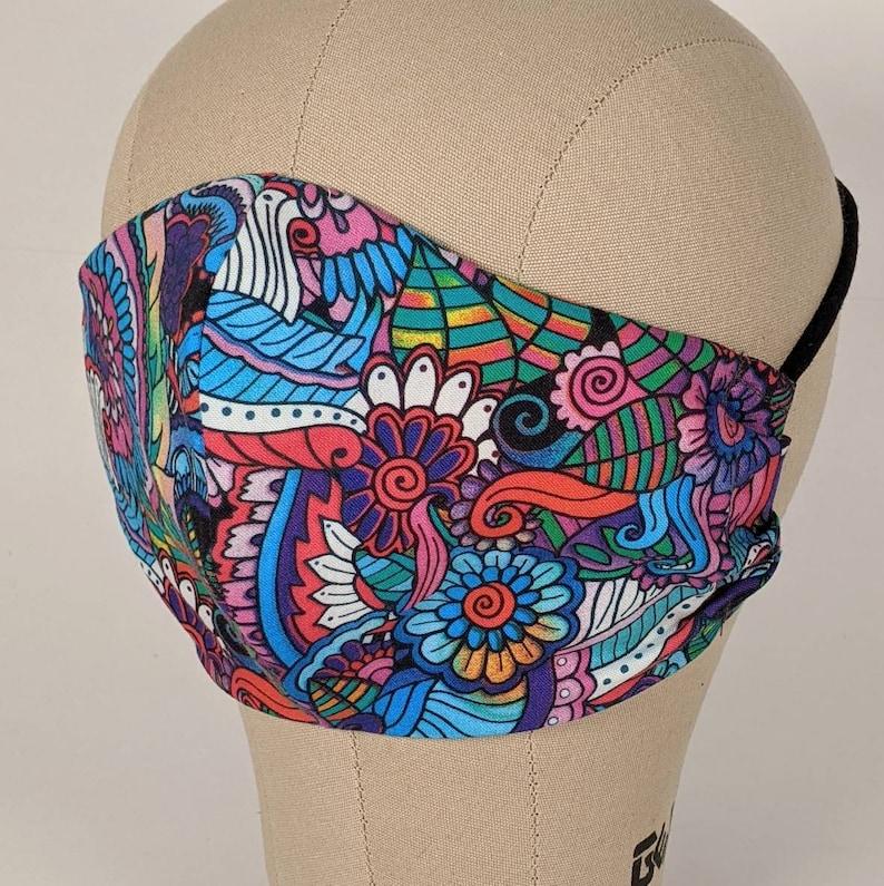 Rich floral mural mask image 0