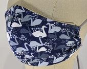 Elegant Blue Swans Mask