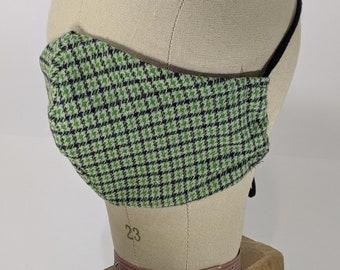 Top o' the mornin' green plaid mask