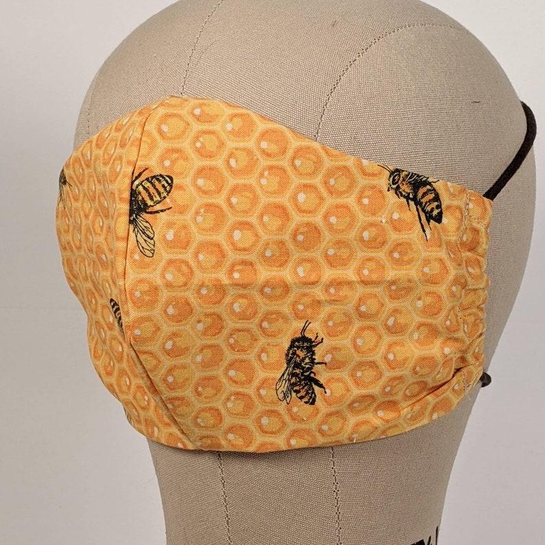 Honey Comb Honey Bees mask image 1