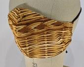 Japanese trompe l'oeil Basket Weave face mask