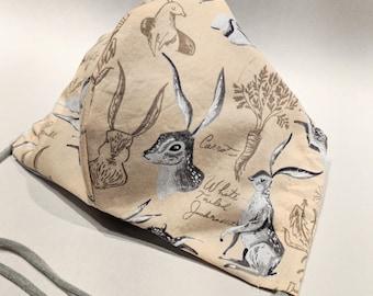 Bunny botanical mask