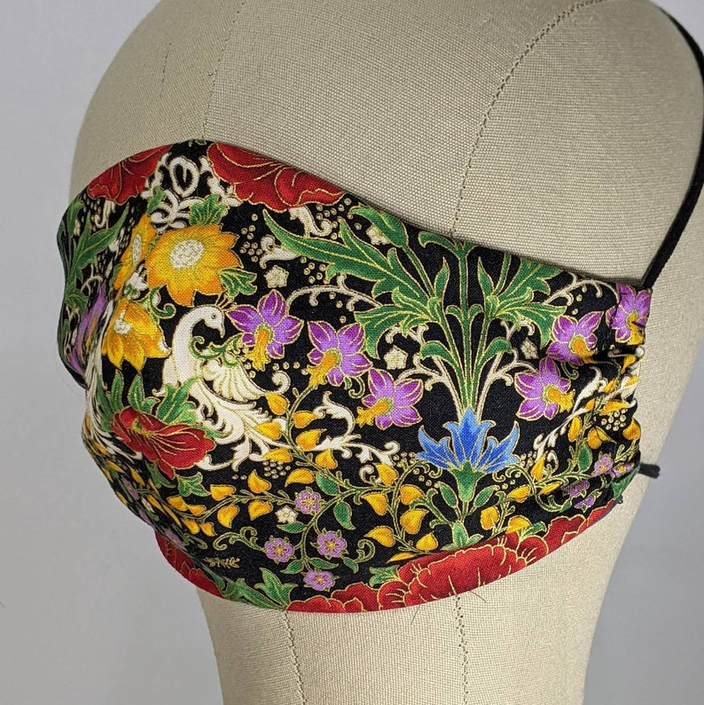 Rich floral and swan mask image 1
