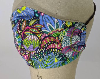 Richly patterned floral quality mask Sally Kelly