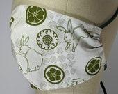 Darling Japanese bunny mask, 3 layers