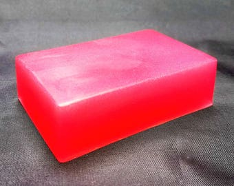 Peony Petal Scented, Glycerin Soap, Hand and Body Soap, Bar Soap, Skin Care, Detergent Free, Handmade, Mystic Creations