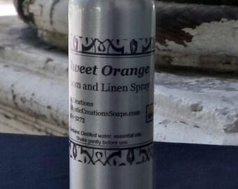 Room Spray, Linen Spray, Aromatherapy Spray, Essential Oil Spray, Room Freshener, Sweet Orange, All Natural, Handcrafted, Mystic Creations