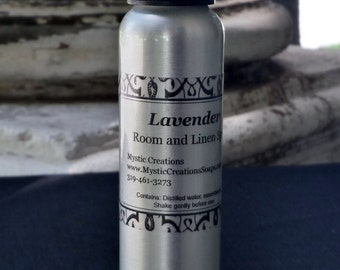 Room Spray, Linen Spray, Aromatherapy Spray, Essential Oil Spray, Room Freshener, Lavender, All Natural, Handcrafted, Mystic Creations