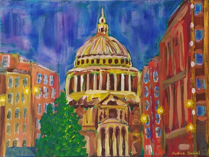 St Paul's Cathedral London  Original Acrylic Painting on image 0