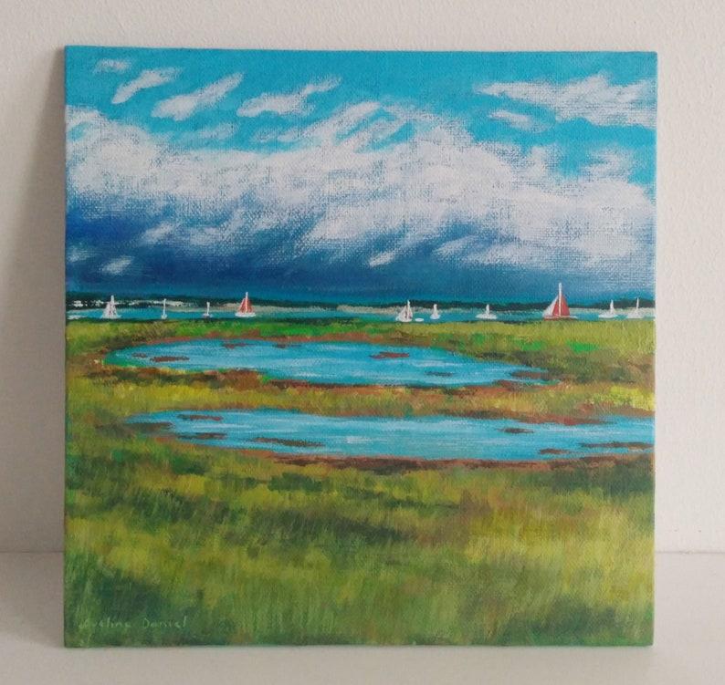 Cudmore Grove Salt Marshes  Original Acrylic Painting on image 0