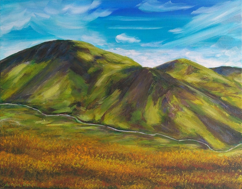 Snowdon Mountain View  Snowdonia  Original Acrylic Painting image 0