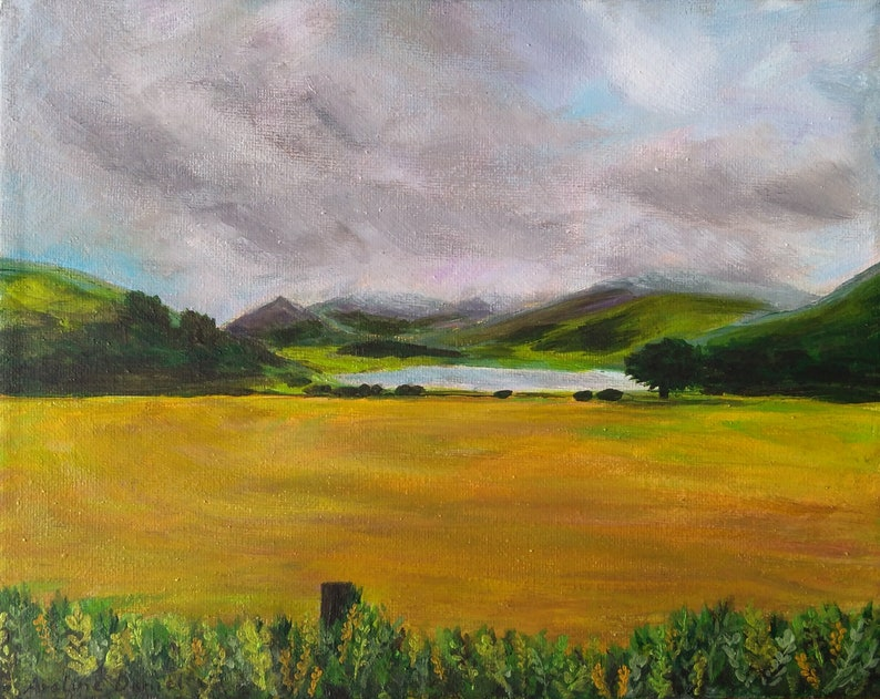 Nantlle Lake View  Original Acrylic Painting on Canvas  image 0