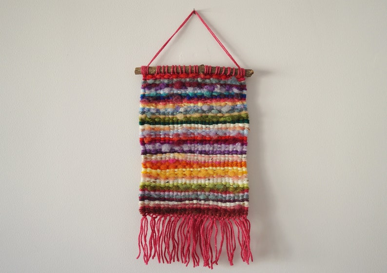 Hand Woven Wool Tapestry  Colourful  8x14  Wall image 0