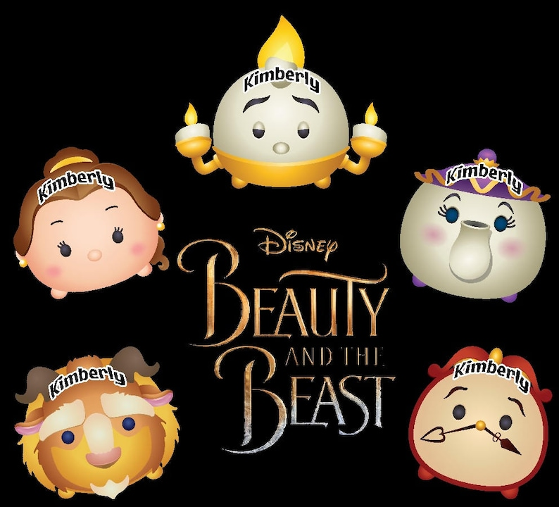 469a9fcad06 New Thicker Magnets Tsum Tsum Beauty and the Beast Disney