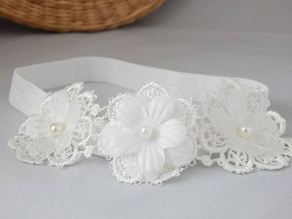 wedding Fairy Dust Handmade Baby lace tiara headband for christening baptism