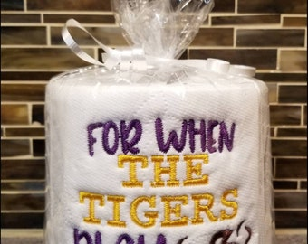 LSU Football Gag Gift Embroidered Toilet Paper Funny Birthday Gifts For Him Party Decoration Dad