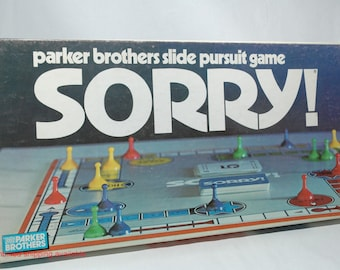 Sorry The Slide Pursuit Game From Parker Brothers 1972 COMPLETE Read Description
