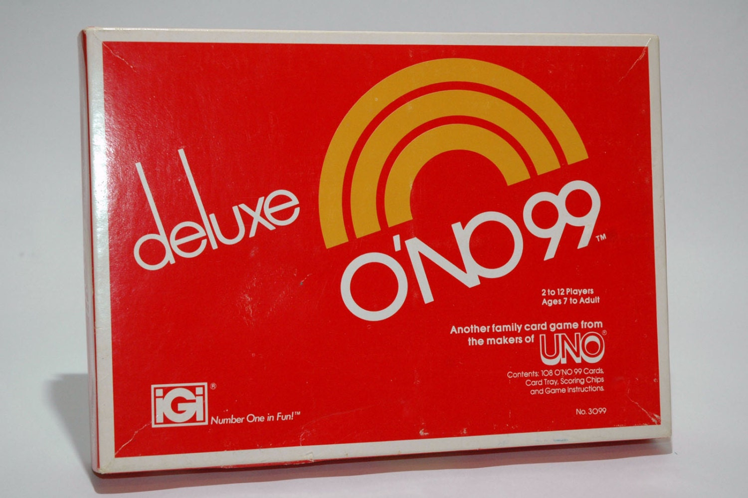 ONo 99 Deluxe Card Game From IGi 1981 COMPLETE Read