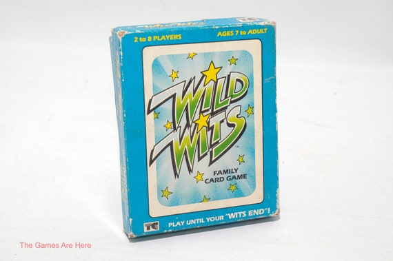 Wild Wits Card Game From TeeGee Toys 1984 COMPLETE