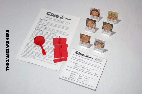 Clue Jr Junior Case Of The Missing Pet From Parker Brothers Etsy