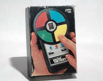 Pocket Simon Electronic Memory Game from Milton Bradley 1980 (read description)