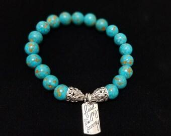 Turquoise Inspirational Charm Bracelet