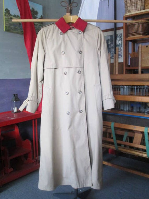 Vintage London Fog Coat/Woman's London Fog/Tan Tr… - image 1
