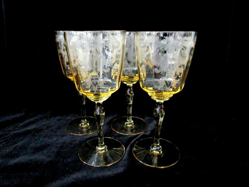 Tiffin Byzantine Wine Glasses Mandarin Set of 4 Tiffin image 0