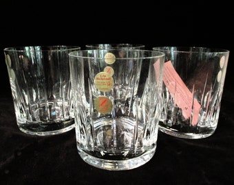 Set of 4, Old Fashioneds, Whiskey Glasses, Lead Crystal, Cristallerie Zwiesel, Made in Germany, Original Box, Excellent Condition
