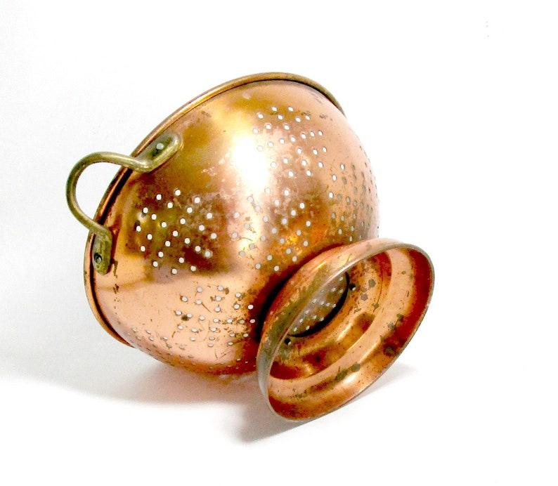 Vintage Copper Colander Copper Strainer Decorative Colander image 0