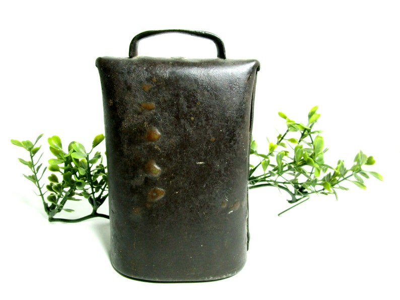 Antique Cow Bell Oxen Bell Large Heavy Hand Forged Farm image 0