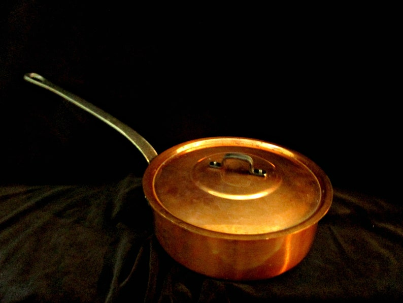Copper Cookware French Copper Skillet or Pan With Original image 0