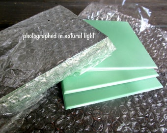 Mid Century Metal Wall Tiles, Never Used,  Jadeite Green Metal Tiles, Perfect for Retro Bath or Kitchen, Packet of 25 Tiles, 6 Packets Avail