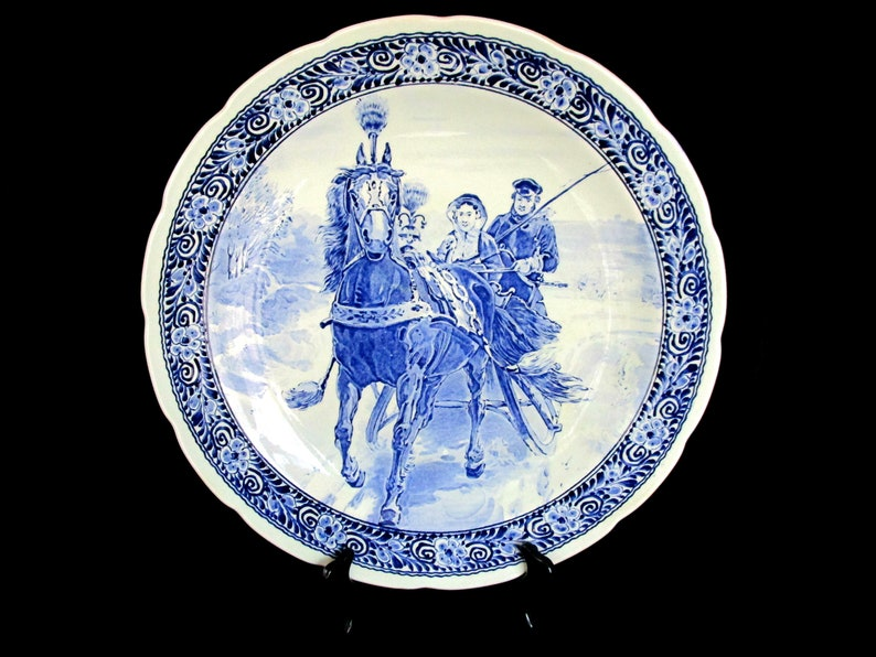 Large Delft Plate Royal Sphinx by Boch Display or Wall image 0
