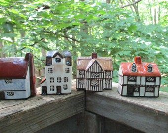 Suffulk Cottages ,Set of 4, Village Houses, Made in England