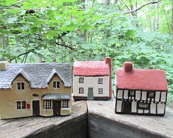 Mudlen End Studios Tiny Cottages, Set of 3,  by Felsham, Suffolk England, Village Houses, Made in England