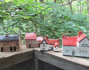 Mudlen End Studios Tiny Cottages, Set of 4, by Felsham, Suffolk England, Village Houses, Made in England