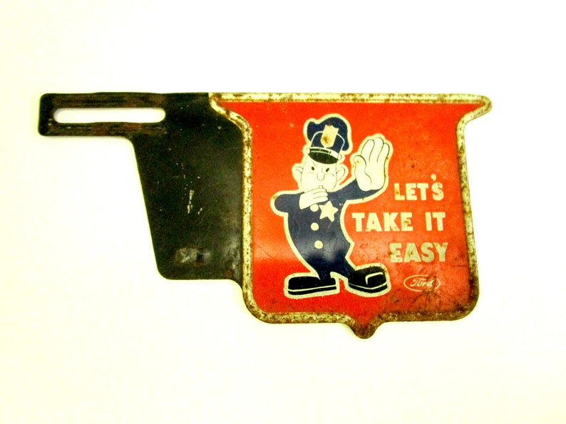 Ford License Plate Topper Lets Take It Easy Ford Motor image 0
