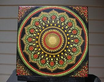 Dot Mandala Acrylic on Canvas