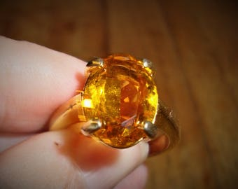 Citrine Ring Size 9.5