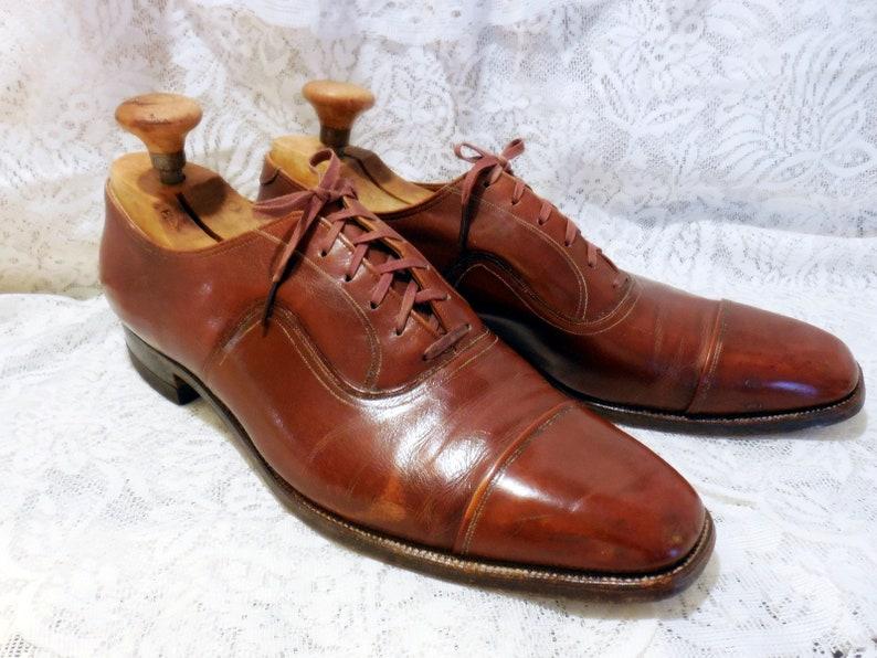 Pair of Vintage Men's Florsheim Shoes Balmoral Style image 0