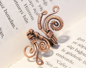 copper wire jewelry, copper ring, copper jewelry, wire wrapped jewelry handmade, copper wire ring, adjustable ring, wire wrapped ring