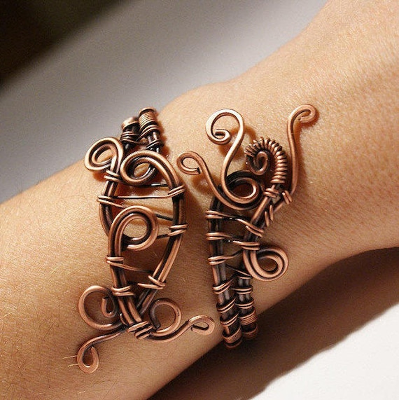 Kupfer Armreif Draht umwickelt Armband Kupfer Draht Schmuck