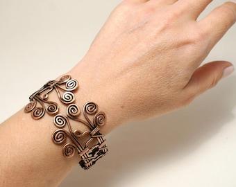Wire Wrapped Bracelet, copper bracelet, wire wrapped copper bracelet, wire wrapped jewelry handmade, copper jewelry