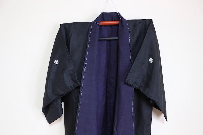 Vintage Japanese Shinto Clerical Ceremonial Kimono Silk Men Women Unisex
