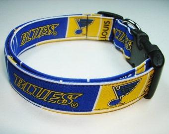 St. Louis Blues Hockey NHL Dog Collar