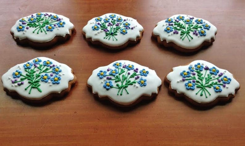 Mother S Day Icing Decorated Hungarian Gingerbread Cookies 6 Pieces