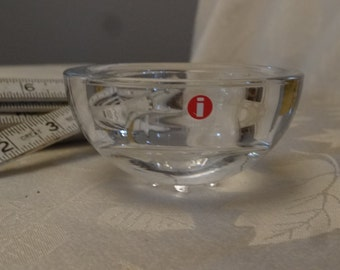 Iittala tea light candle holder, Iittala votive holder, Iittala clear glass candle holder