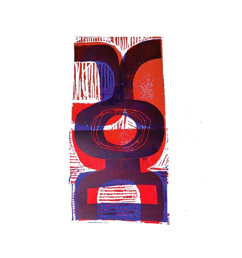 Blue & Red A3 Digital Print image 1