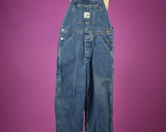 c0be867b00 Vintage Denim Bib Overalls - LEE Cornflower blue cotton denim